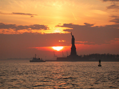 Manhattanhenge, sunset, manhattan, nyc, new york, staue of liberty