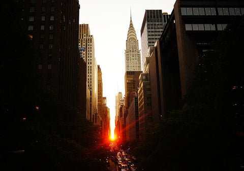 Manhattanhenge, sunset, manhattan, nyc, new york