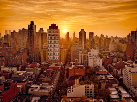 Manhattanhenge, sunset, manhattan, nyc, new york, soho
