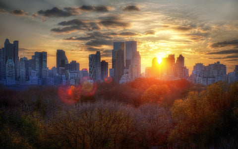Manhattanhenge, sunset, manhattan, nyc, new york, central park