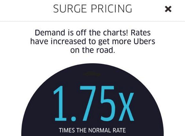 surcharge pricing uber
