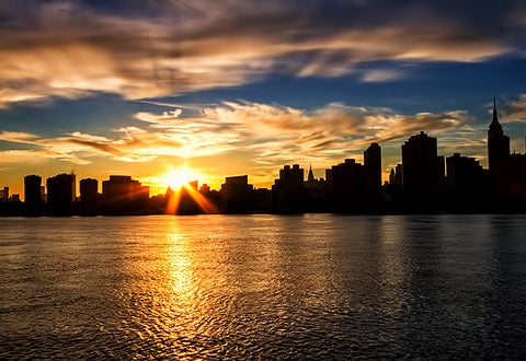 Manhattanhenge, sunset, manhattan, nyc, new york, skyline, view from jersey