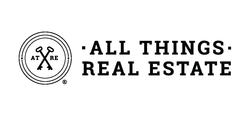 I Heart Real Estate - White & Black Vinyl Transfer Decal - 3x3 | All Things Real Estate