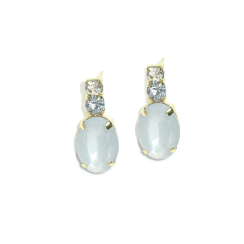 CRYSTAL CLEAR DROP EARRING