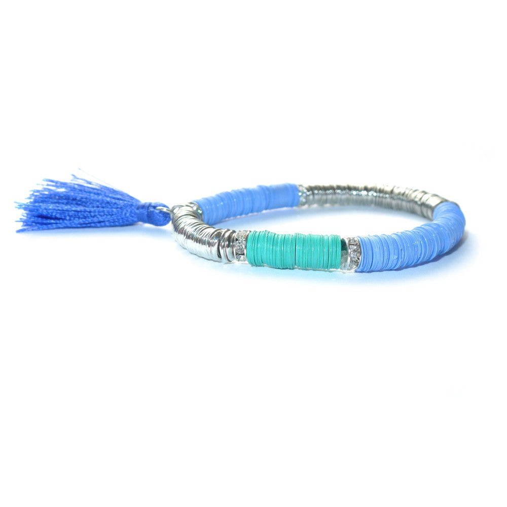 SEQUIN & TASSLE STRETCH BRACELET