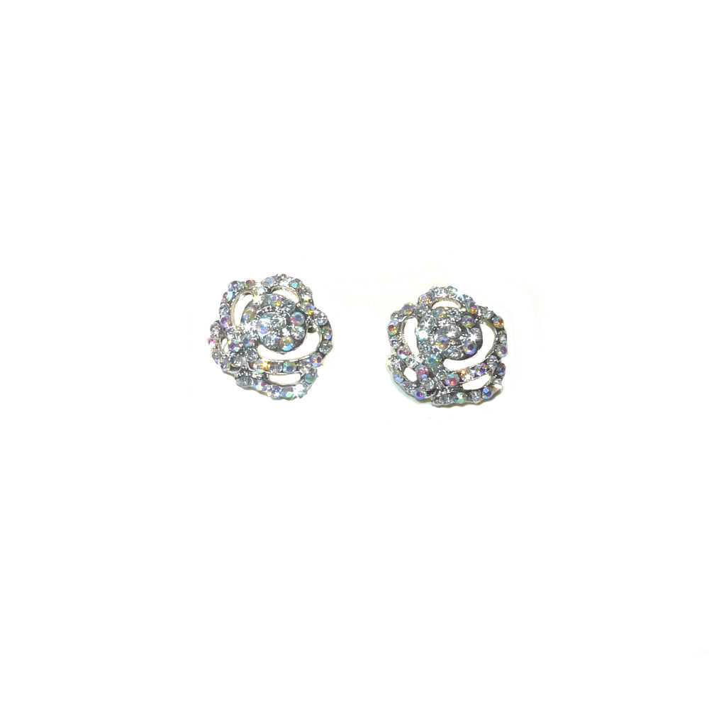 ROSE PAVE AB STUD EARRINGS