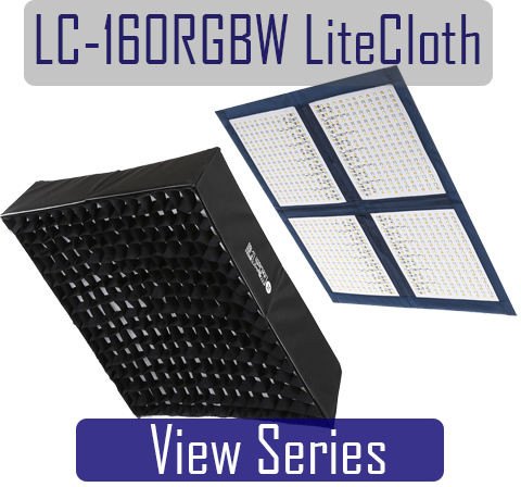 LiteCloth LC-160RGBW, 2x2 Foldable LED Light Mat for Video, film, photography