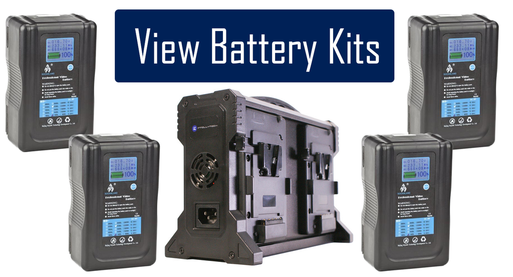 V-Mount and Gold Mount Lithium Ion Battery Kits