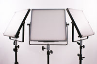3 Piece Paper Light Kit. Bi-Color, Includes Batteries, Case, Light Stands, Diffusion and More