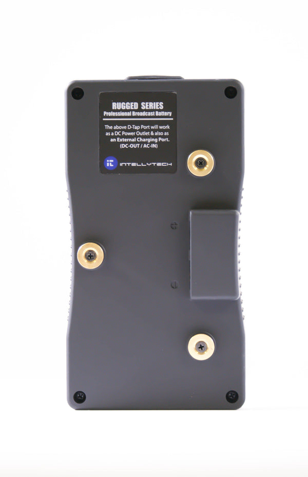 Rugged Series Kit - 2 x 190Wh Series Battery + Dual Charger. Gold Mount / V-Mount