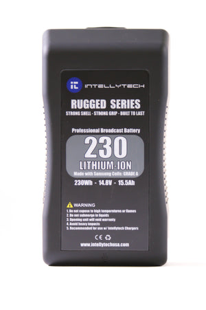 230Wh Rugged Series Li-Ion Battery Pack. Gold Mount / V-Mount
