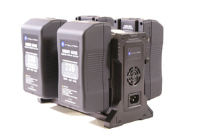 Rugged Series Kit - 4 x 230Wh Series Battery + Quad Charger. Anton Bauer Gold Mount / V-Mount