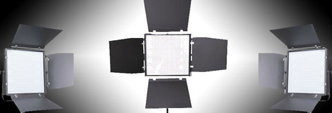 Three Light Kit - 1x1 Intellytech Panels, 50W & 100W With Batteries (gold mount or v-mount) for video