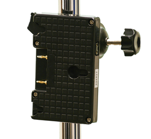 SC-AB - Gold Mount Battery Plate with Stand Clamp & D-Tap Output