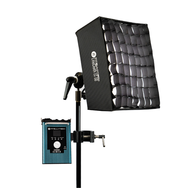 Intellytech LiteCloth LC-50 2.0 - 1x1 bi-color LED Mat With Softbox, diffuser and grid
