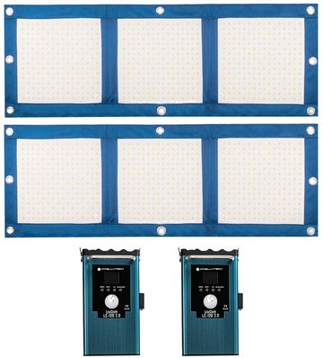 2 Light Kit - LiteCloth LC-120 2.0 - 1x3 Foldable LED Mat Kit