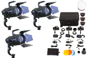Pocket Cannon - Focusable LED Fresnel - 3 Light Kit