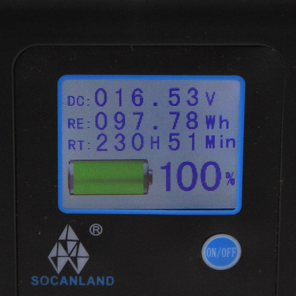 Socanland 98Wh Gold Mount V Mount battery with d-tap and lcd