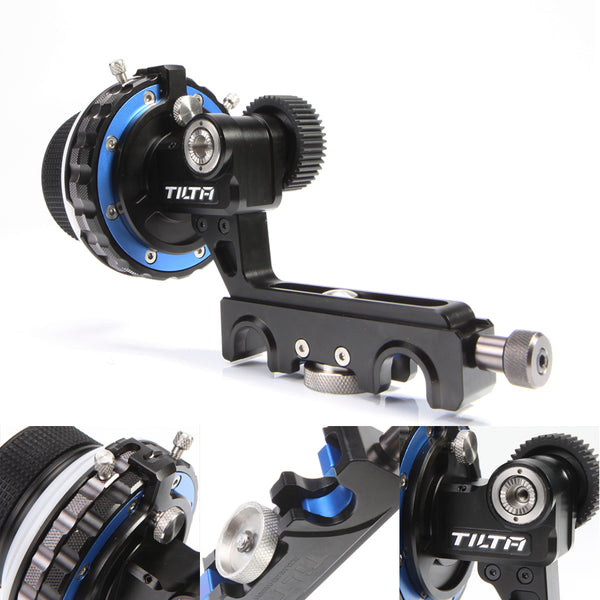 TILTA Follow Focus W/ Hard Stops & 15mm Rail Rod Clamp - FF-T03