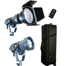 2 Light Kit Light Cannon X-100 | Bowens Mount + Bi-Color + Fresnel