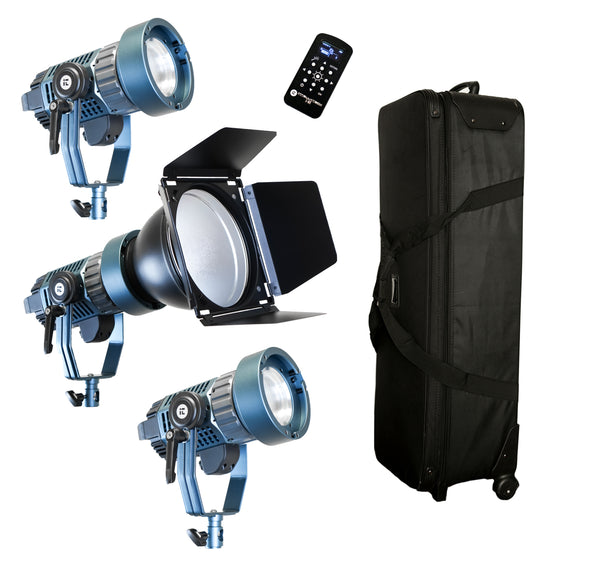 3 Light Kit Light Cannon X-100 | Bowens Mount + Bi-Color + Fresnel