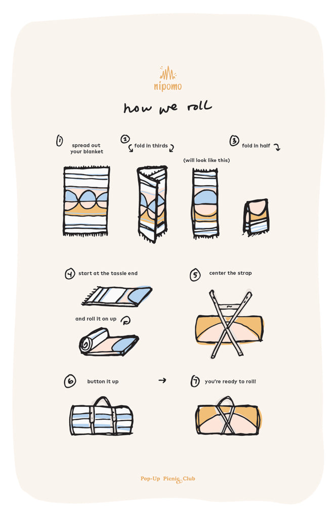 How to roll your picnic blanket