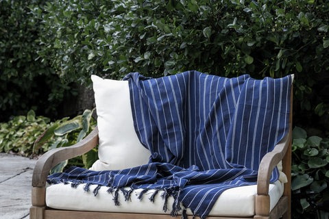 Navy Blue Turkish Towel by Good Intentions at Darling Spring