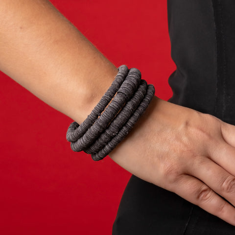 Gray Leather Bracelet by WaiWai at Darling Spring