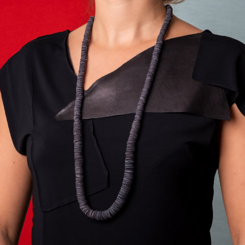 Gray Leather Necklace by WaiWai at Darling Spring