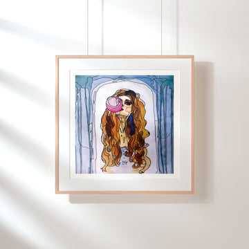 Bubblegum Girl Fine Art Print - Darling Spring