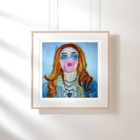 Bubblegum on the Go Fine Art Print