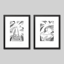 By The Lake Art Print Set