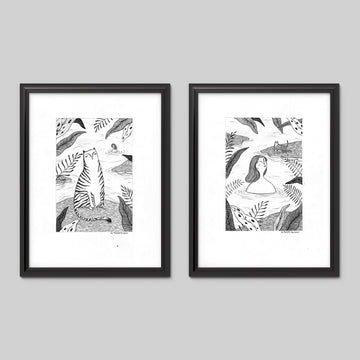 By The Lake Art Print Set - Darling Spring