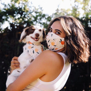 Face Mask & Dog Bandana Bundle - Darling Spring