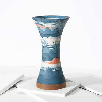 Ground Blue Vase - Darling Spring