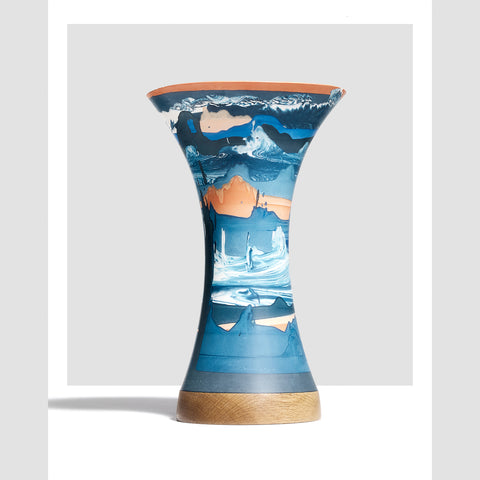Ground Blue Vase