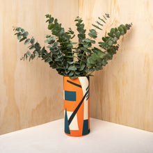 Sally Blair Bauhaus Orange Ceramic Vase