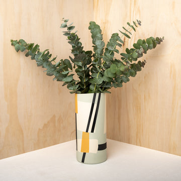 Sally Blair Bauhaus Mint Ceramic Vase - Darling Spring