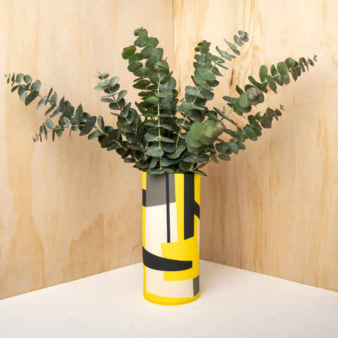 Bauhaus Yellow Ceramic Vase - Darling Spring
