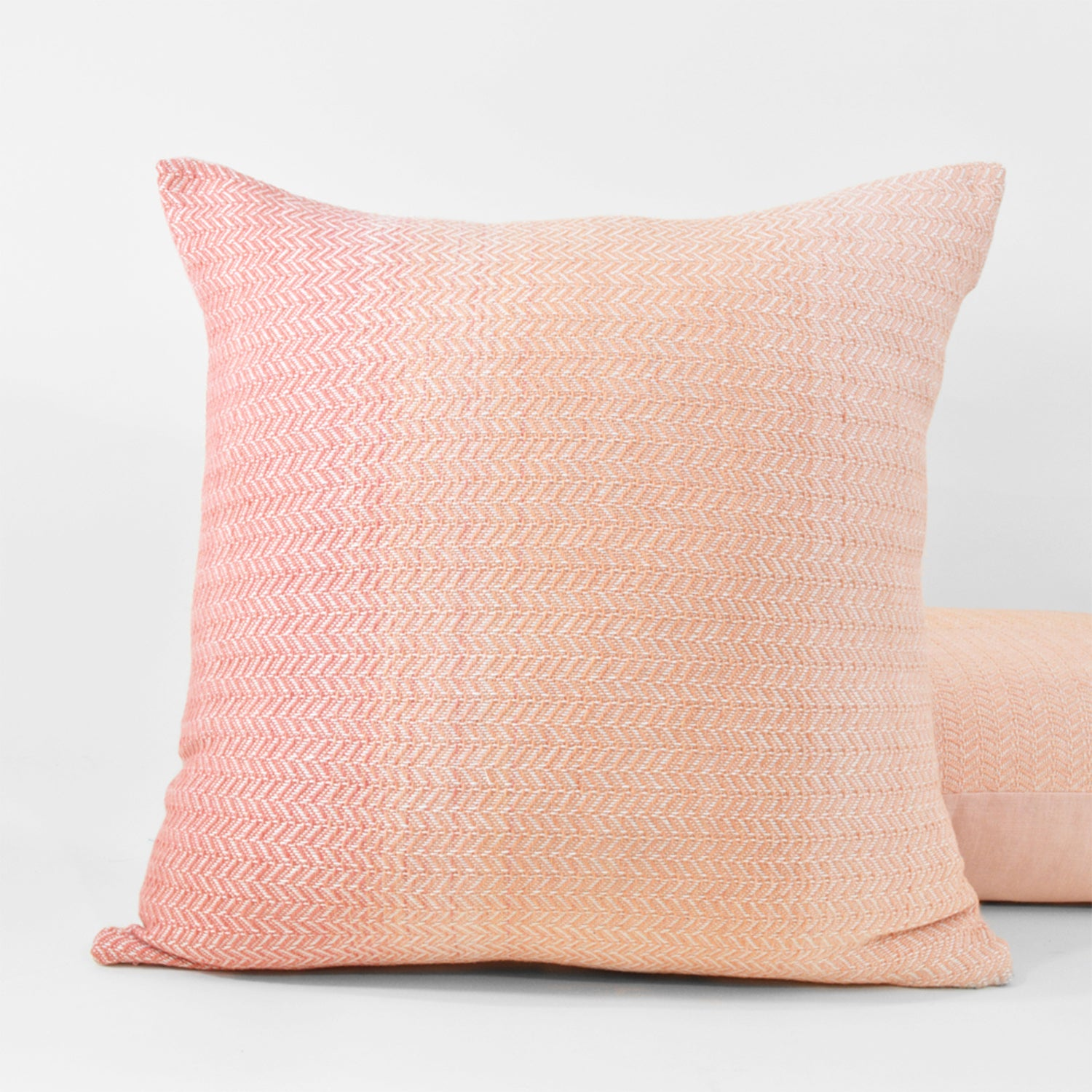 Pink Horizon Throw Pillow