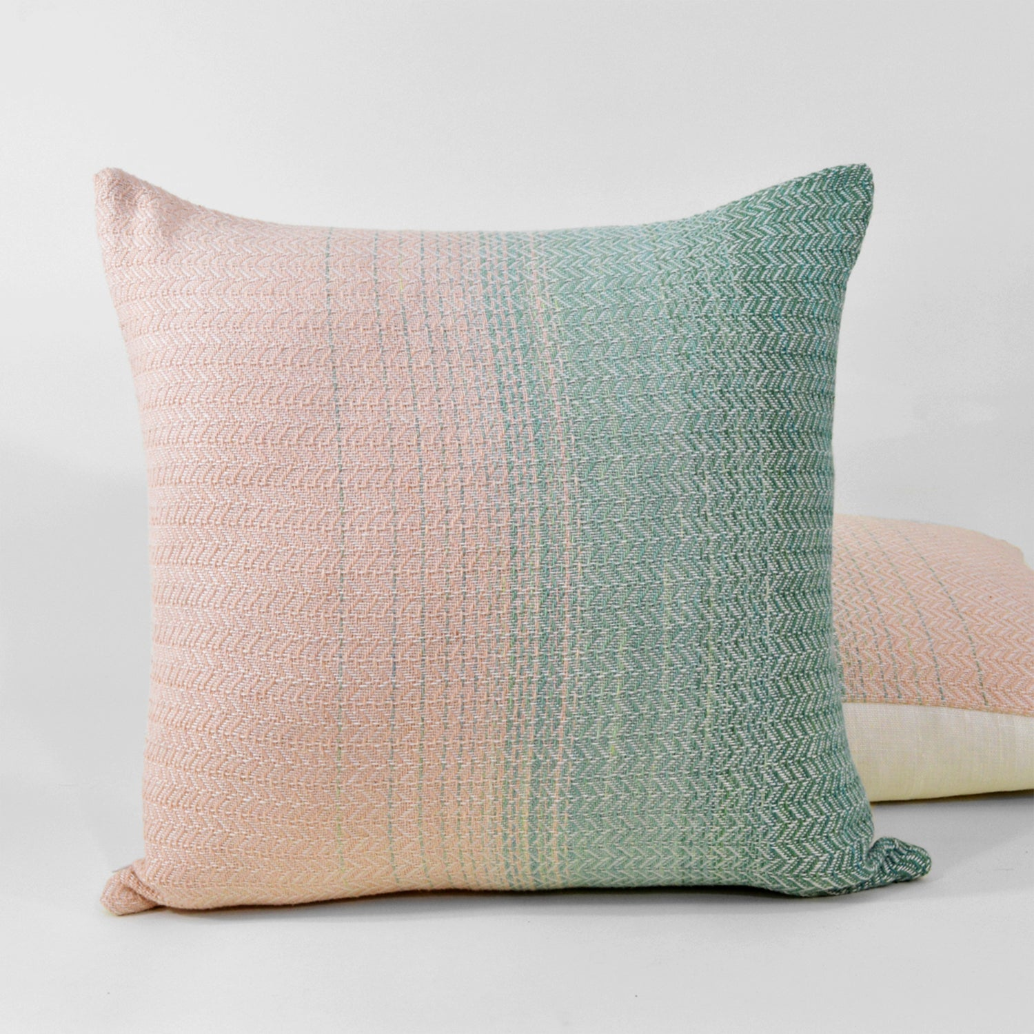 Green Horizon Throw Pillow