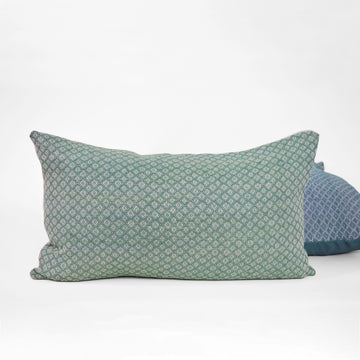Green Diamond Lumbar Pillow - Darling Spring