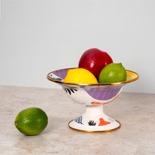 Kapka Flashback Small Enamel Footed Fruit Plate