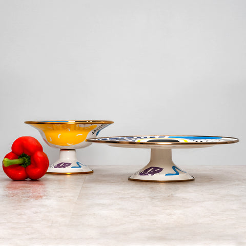 Flashback Small Footed Fruit Plate