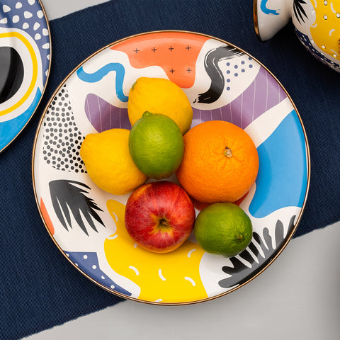 Kapka Flashback Large Enamel Fruit Plate - Darling Spring