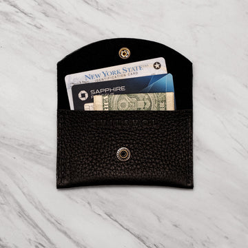 Mini Pebbled Leather Wallet - Darling Spring