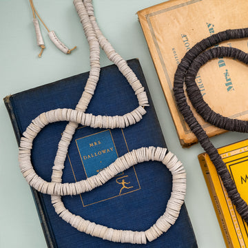 White Leather Necklace - Darling Spring