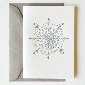 Mandala Snowflake Greeting Card - Darling Spring
