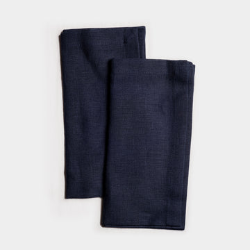 Organic Linen Navy Blue Napkin set of two