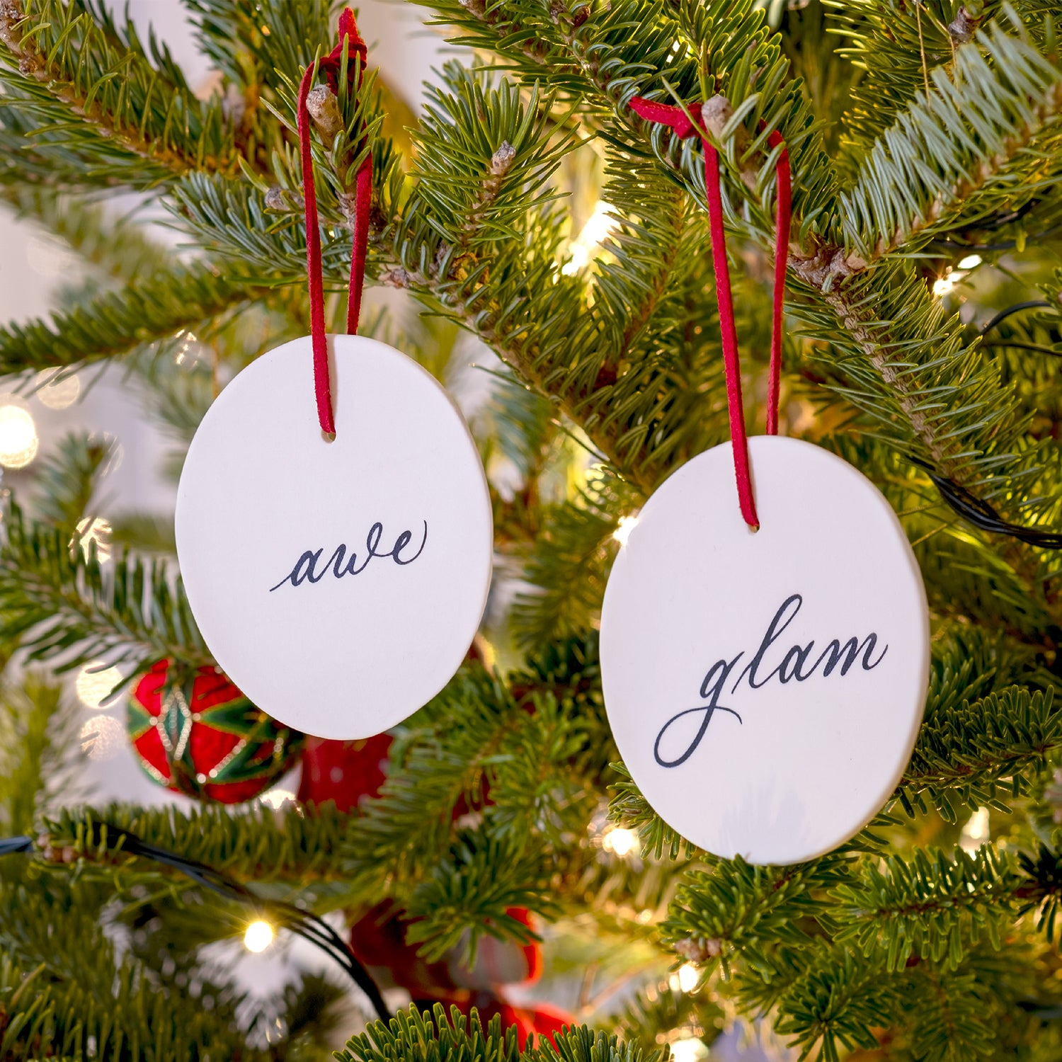 Awe & Glam Ornament Set of Two